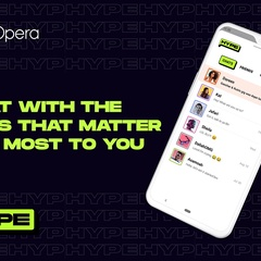 Opera adds new features to its chat service Hype