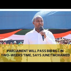 Parliament will pass BBI Bill in two weeks' time, says Junet Mohammed